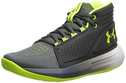 Under Armour Jungen Grade School Torch Mid Basketballschuhe, Grau (Pitch Jet Gray/High-Vis Yellow 103), 39 EU