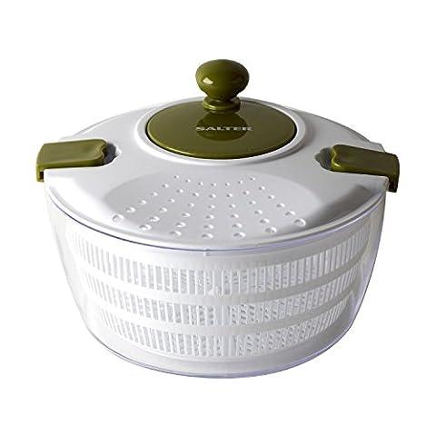 Salter BW03821GR Large Salad Spinner, Green/White
