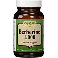 Only Natural - Soporte inmune de berberina 1000 mg - 50 Cápsulas vegetarianas