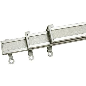 Sunl INES hw8000/Rail de Panneau Syst/ème de Rail 215/cm Blanc 120 120/x 4/x 2/cm Blanc m/étal 2/Voies