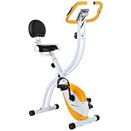 Ultrasport Unisex F-Bike Advanced Exercise Bike, Display LCD, Home Trainer Pieghevole, Livelli di Resistenza Regolabili…