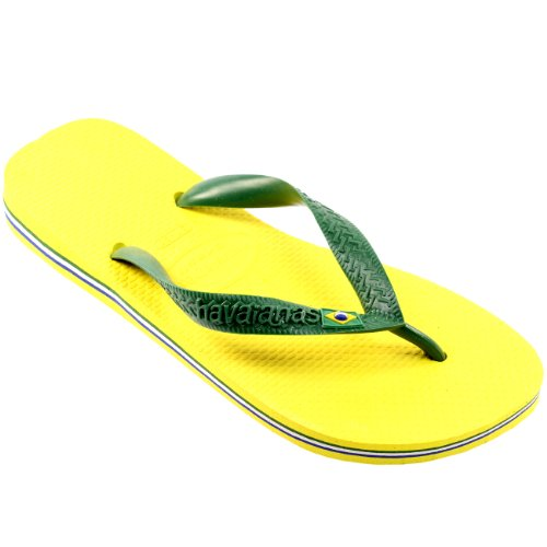 Herren Sandalen Havaianas Brasil Flip Flop Sandals Gelb