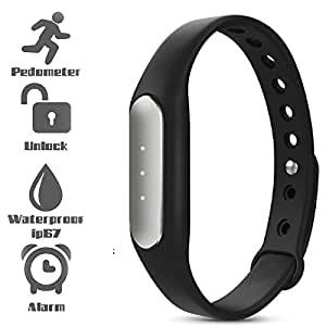 UIMI TW02 Fitness Band with 3 Indicator Lights (Black)