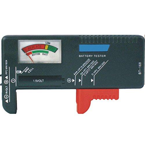 Lidahaotin BT-168 Pointer Batterie-Tester Batteriekapazität Test-Tools für AA/AAA / 1,5 V / 9V Batterie-Knopfbatterie Test 9v-batterie