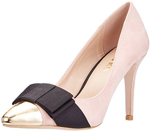 Alyssa, Zapatos de Tacón con Punta Cerrada para Mujer, Beige (Nude), 41 EU Kurt Geiger