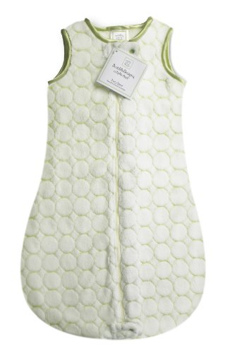 SwaddleDesigns zzZipMe Sack, Pastel Puff Circles (Kiwi 6-12 Months) by SwaddleDesigns