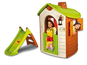 smoby 310177 jeu de plein air maison winnie slide. Black Bedroom Furniture Sets. Home Design Ideas