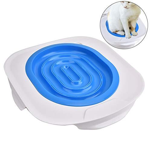 Kit da Toilette per Gatti Puppy Cat Toilet Trainer Animali Domestici in plastica Sedile per WC Pulito Comodo Sedile per Toilette per Animali Domestici