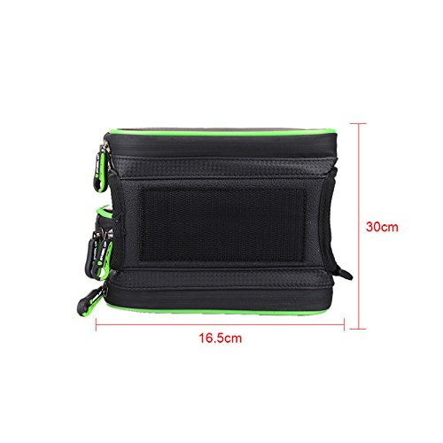 Fastar 15,7 cm Wasserdicht Touch Screen Bike Bag Front Rahmen Top Fahrrad Handy Tasche MTB Road Mountain Fahrrad Tasche Fahrrad Satteltasche Grün