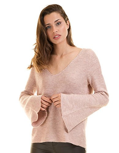 Flared Sleeve sweater onlLOTUS by Only pink