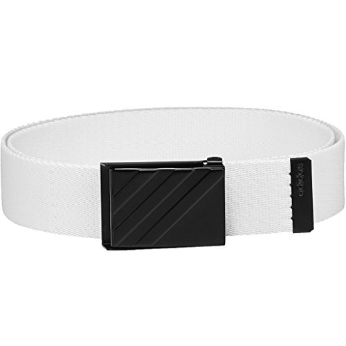 Adidas Golf 2018 Mens 3 Stripe Webbing Belt White One Size