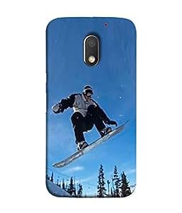 PrintVisa Designer Back Case Cover for Moto E3 (ice skating act of moving on ice)