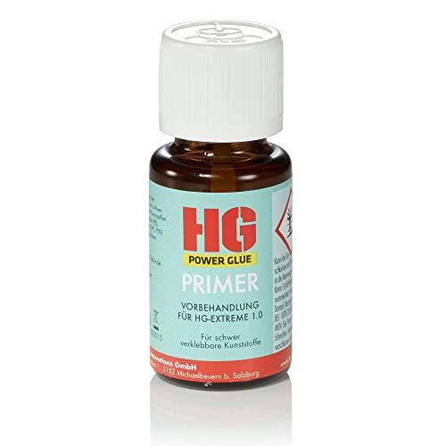 HG-Primer by HG Power Glue I Klebe-Vorbehandlung (Haftvermittler) für PP, PE, EPDM, PTFE, Silikon, wachs- oder ölhaltige Kunststoffe I Spielzeug, Schuhabsatz, Batteriekasten, Scheinwerfer-halterung