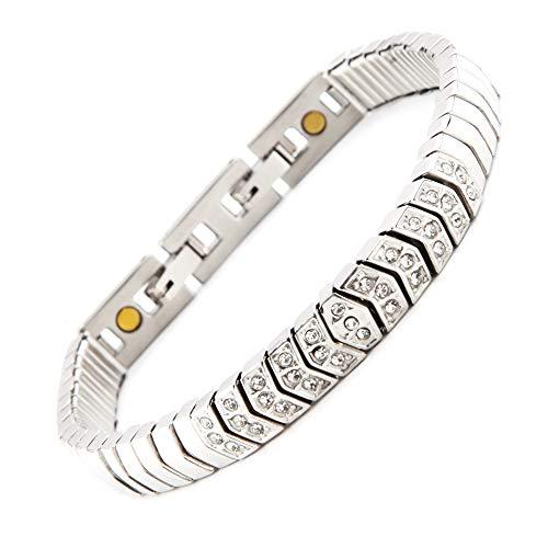 Serpenti Flex Magnetarmband mit 33 glitzernden Swarovski Kristallen in 1A Qualität Energetix 4you 1850 Magnetix 2222 Gr. M/L - XL