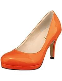 66a909593a Amazon.co.uk: Orange - Court Shoes / Women's Shoes: Shoes & Bags