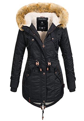 Navahoo Warme Damen Winter Jacke Teddyfell Winterjacke Parka Mantel B399 1