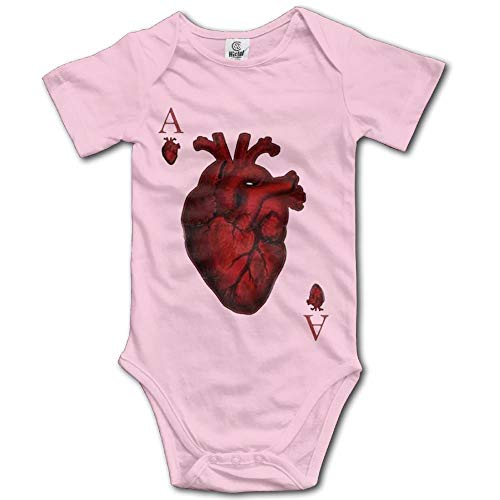 Baby Onesie Girl Boy Outfit Baby Jumpsuit Creeper Short Sleeve Heart ()