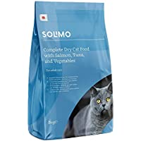 Amazon Brand - Solimo - Complete Dry Cat Food  - Salmon, Tuna and Vegetable Mix, 3kg