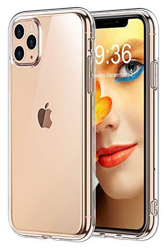 Bovon Cover per iPhone 11 PRO Max,Crystal Clear Trasparente Protettiva Case Assorbimento degli Urti,Custodia per iPhone AntiGraffio in Silicone TPU Compatibile con iPhone 11 PRO Max 6.5 Pollici(2019)