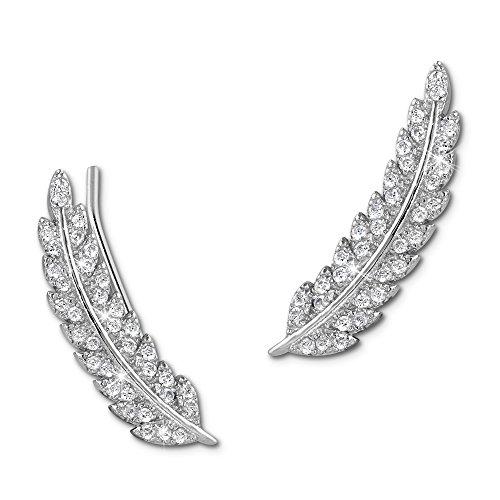 SilberDream Ear Cuff Feder Damen-Ohrring Ohrklemme 925 Sterling Silber Silberschmuck GSO465W