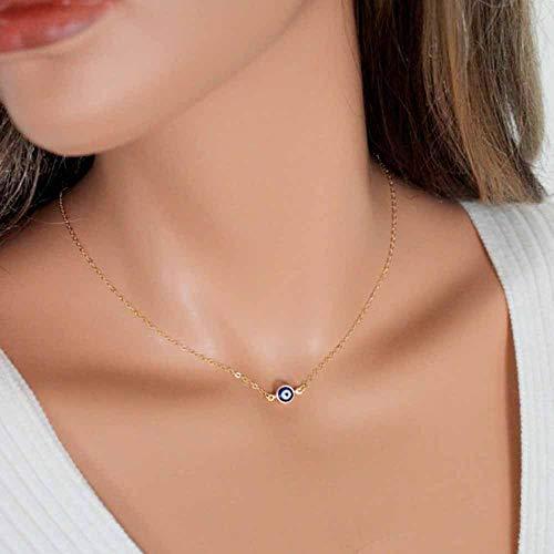 Jovono Fashion Halskette Blaues Auge Anhänger Schmuck Kette für Damen und Mädchen