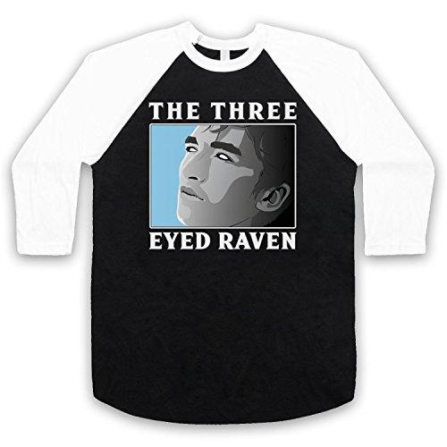 Game of Thrones Bran Stark The Three Eyed Raven 3/4 Manches Retro T-Shirt de Base-Ball