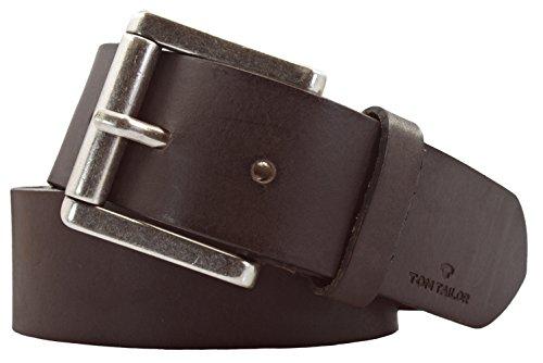 TOM TAILOR Herren Gürtel Herrengürtel Leder Gürtel Ledergürtel 40 mm braun, länge:100