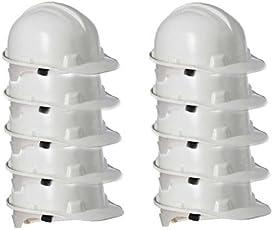 Metro Safety Helmet Combo (White) - 10 Pieces