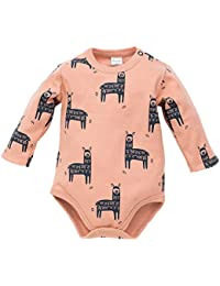 1123187304 Pinokio - Happy Llama - Body a Maniche Lunghe per Bambini 100% Cotone -  Turchese