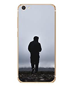 Snapdilla Designer Back Case Cover for Vivo X7 Plus (Rain Shower Jacket Black Run Stones Wallpaper Sunrise)