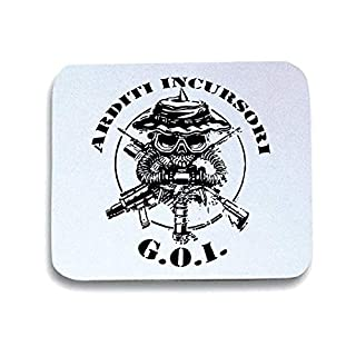 T-Shirtshock Mouse Mat Pad White T0799 ARDITI INCURRENT MILITARY taglia-unica Bianco
