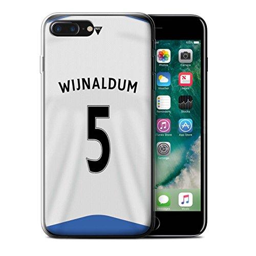 Offiziell Newcastle United FC Hülle / Gel TPU Case für Apple iPhone 7 Plus / Obertan Muster / NUFC Trikot Home 15/16 Kollektion Wijnaldum