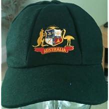 AUSTRALIA clásica tradicional MELTON CRICKET gorra estilo enrojecer 58-61CM verde