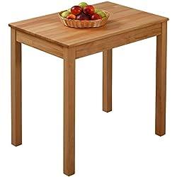 Krokwood Tomas Massivholz Esstisch in Buche 70x50x75 cm FSC100% massiv Beistelltisch geölt Buchenholz Esszimmertisch Küche praktischer Küchentisch Holztisch vom Hersteller und kostenlose Lieferung