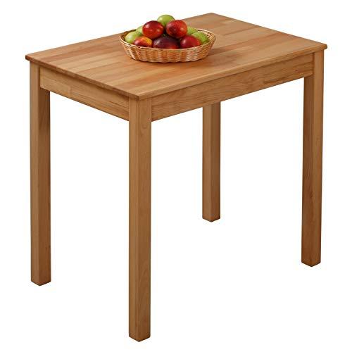 Krokwood Tomas Massivholz Esstisch in Buche 75x50x75 cm FSC100% massiv Beistelltisch geölt Buchenholz Esszimmertisch Küche praktischer Küchentisch Holztisch vom Hersteller -