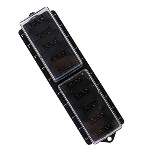 KKmoon 6 Voies Blade Bo/îte Fusible avec Kit de Lumi/ère de Signalisation LED pour Voiture Bateau Marine Trike 12V 24V
