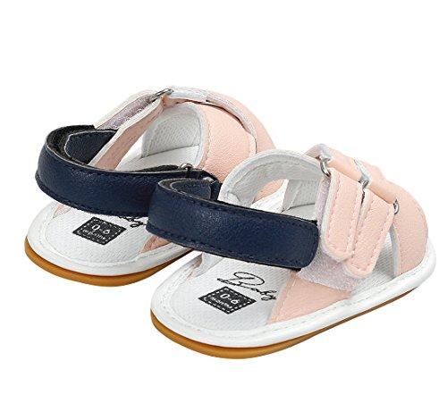 EOZY Baby Jungen Schuhe Mädchen Sandalen Lauflernschuhe Sneakers 0-18 Monate Pink