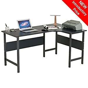 L Shaped Corner Extendable Computer And Writing Desk Table Matching Graphit