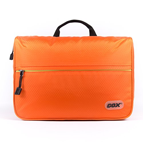 One Day Pack Tasche, GOX Premium-420D Nylon Wasserdichte Bewegliche Folio Gegen Open Design Satz-Beutel / Wäscherei / Wash Bag / Kulturbeutel Kit / Travel Organizer mit Haken (Small, Orange) (Bag Haken Garment)