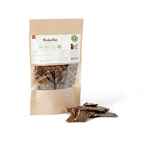 Trockenfleisch für Hunde, Hundesnack, Trockenfleisch Rinderfilet 100g   PETS DELI   gesunder Snack für Hunde, 100% pures Premium-Fleisch, luftgetrocknet
