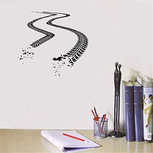 Wandtattoo Wohnzimmer Reifenspuren Auto Auto Spur Aufkleber Road Racing S Für Zuhause Jungen Zimmer Schlafzimmer Garage (Kundenspezifische Auto-teile)