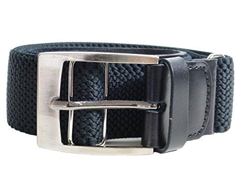 design di qualità d802b 327b3 Olata Cintura Elasticizzata per Uomo, Regolabili con Pelle Allegati e  Quadrato Fibbia, 4cm. 115cm lunga. Nero