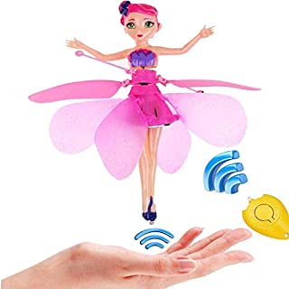 Befied Toys - Kids Induction Remote Control Helicopter, Dual Mode Charging, Lighting Floating Suspension Flying Toys for Ages 5 and Up (fairy A)