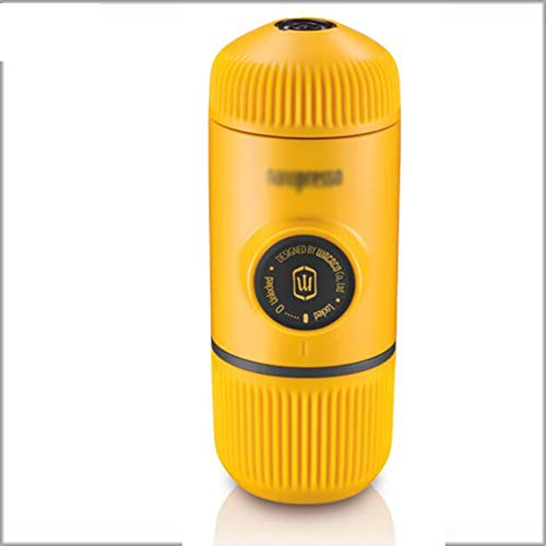 JGSDHIEU Kaffeemaschine Tragbare manuelle Kaffeemaschine Outdoor Travel Handpresse Pulver/Kapsel Kaffee 80ml -