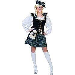 Disfraz escocesa mujer - S