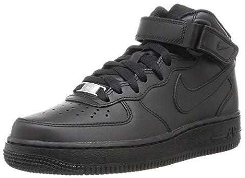 Nike Wmns Air Force 1 Mid '07 Le, sneaker femme, Noir - Nero (Black/Black), 38