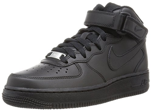 Nike Wmns Air Force 1 Mid '07 Le, Women's Sports and Outdoor Shoes, Nero (Black/Black), 6.5 UK (40.5 EU)