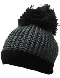 Sourcingmap Mens Rolled up Trim Pom-pom Winter Knitting Beanie Hat
