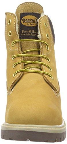 Dockers by Gerli 35fn710-300910, Bottes Classiques mixte enfant Beige (golden Tan 910)