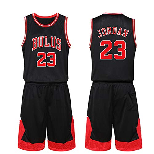 GY Michael Jordan # 23 Basketball Jersey - Klassisches ärmelloses Set, Chicago Bulls, Basketball für Männer-Black-XL